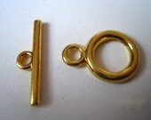 6  Antique Gold Smooth Toggle Sets     b22-11