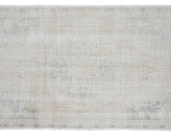 5x7 Distressed Oushak Rug