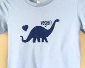 Vegan Brontosaurus T-shirt - Men/Unisex/Women - Dinosaur!