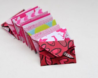 Tiny Valentine's Day Envelopes and Blank White Cards, Love notes, Blank Cards