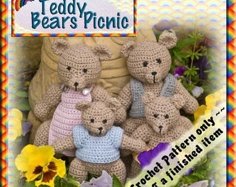 PDF Crochet Pattern Teddy Bears Picnic