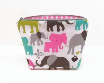 makeup bag zipper pouch elephant makeup bag zipper bag small makeup bag elephants