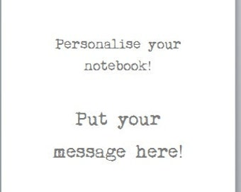 Add a personal message to your notebook / diary for recycled Ladybird Book / Disney book
