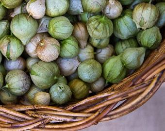 Food Photography, Kitchen Art, Cafe Decor, Green Wall Art, Farmers Market Photography, Vegetable Prints, Tomatillos