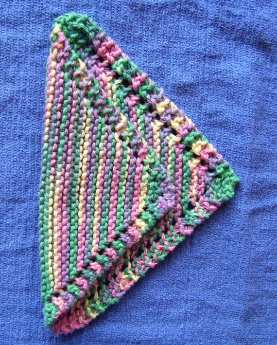 Hand knit cotton dishcloth knitted cotton washcloth Home