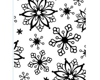 FANCY SNOWFLAKES Embossing Folder by Darice