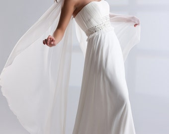 Angelina Bridal Chiffon Wrap Sjawl