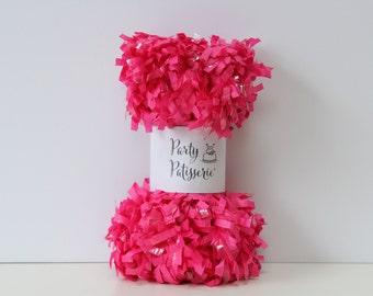 Fringe Garland Party Decor (Bubble Gum Pink)