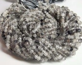 "Full 13"" strand shaded RUTILATED QUARTZ faceted gem stone rondelle beads 3mm - 3.5mm"
