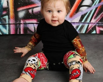 Tattoo Baby Leg Warmers