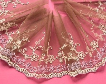 Brown Lace Trim, Beige, Lilac Brown Lace Trim, Couture Sewing, Lace Crafts, Lace  Embellishments, Costumes