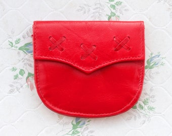 Cherry Red Purse - Coin Pouch Wallet