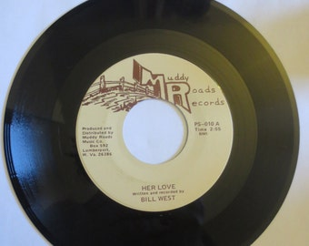 """Bill West – Woman's Gentle Passion/Her Love 45 RPM 7"""" Vinyl Record"""