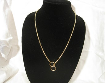 "24"" Gold Snake Choke Chain Necklace"