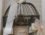Birdcage Wedding Card Holder / Small Birdcage Cardholder / Vintage Style Birdcage / Wedding Decoration / Black Birdcage / Wedding