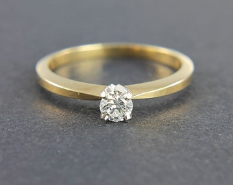 Jabel ring, 18k Diamond solitaire Engagement Ring, size 6.5 ring vintage jewelry