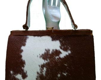Ponyhair 50s60s Large Handbag Purse  Reserved for Barbara