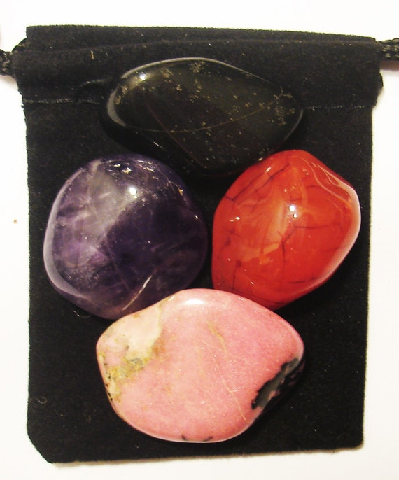 cancer fighter tumbled healing set 4 by