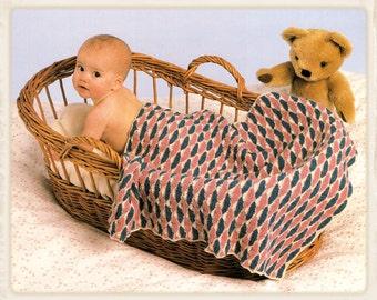 Knitting Pattern Moses Basket Blanket : KNITTING PATTERN FOR MOSES BASKET BLANKET   KNITTING PATTERN