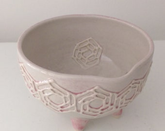 Small Bowl / Rose Pink / Hexagon