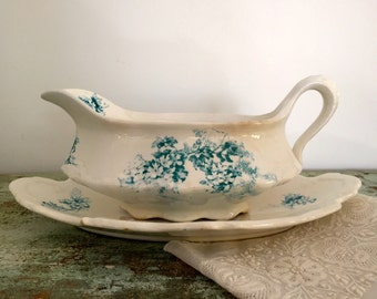 Vintage Sauce Boat and Drip Tray