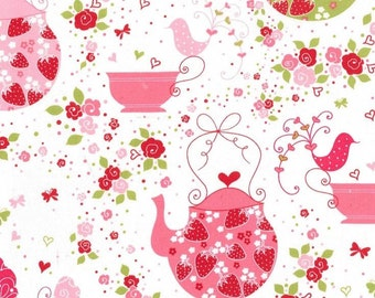 Strawberry Tea Party - Pink from Michael Miller
