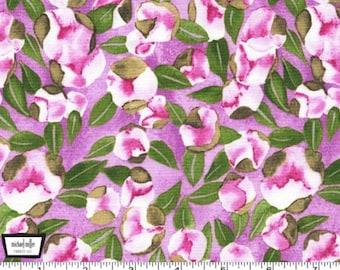Vignette - Spring Buds - Berry Lavender by Laura Gunn from Michael Miller