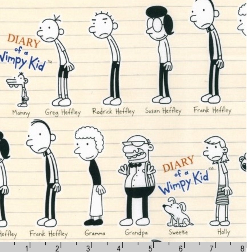 Diary of a wimpy kid characters natural by wimpy kid inc for Book of life characters names