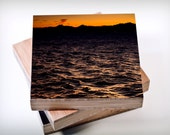 Sunset,Olympic Peninsula,Puget Sound,Pacific Northwest,Bamboo,Photo Block,landscape,golden hour,water,Olympic Mountains,wall art,living room