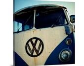 large canvas art // surfer beach art // canvas surfer art - VW, photograph on large art canvas