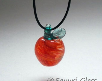 Orange Apple Glass Pendant  : Disaster Relief