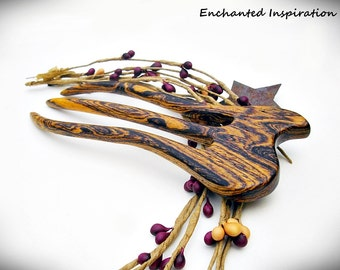 Fascinating Bocote Wood Handmade Hair Fork