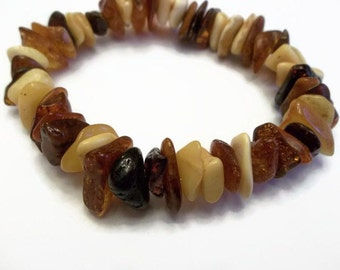 Natural Baltic Amber Cherry Cognac Honey Bracelet
