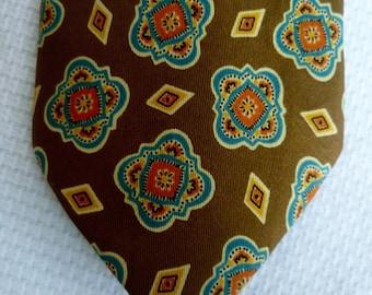 Vintage 1980s Giorgio Armani Silk Paisley Neck Tie