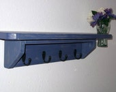 Custom Order for Lindsay Nagle...4 Hook ----- 24 in.Wall Shelf