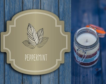 Aromatherapy candles - Scented candle - Peppermint candle