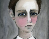 Arthur Rimbaud Literary Portrait Print, Victorian Writer Art (6x8)