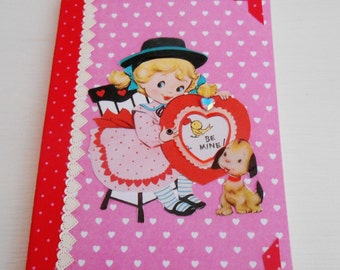 SALE  Retro Inspired Valentine's Day Notebook