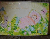 Two Unopened Vintage Packages of Baby Shower Invitations by Rustcraft ~1970's 20 Invitations