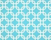 CLEARANCE Aqua Chainlink Curtains- Pair of Drapery Panels- Premier Prints Girly Blue Gotcha Curtains- 53L x 70L inches- Custom Teal Drapes