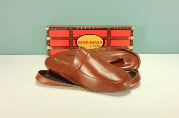 size 9 men 39 s vintage slippers mules clogs bedroom house shoes travel