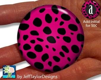 Pocket Mirror - Pink Cheetah Print