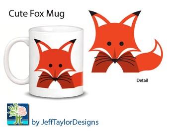 Cute Fox Mug - 2 Choices: Red or Silver Fox