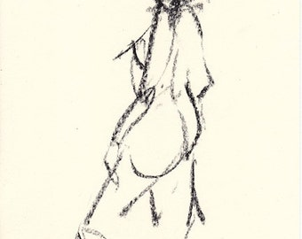 Gesture study 294 Original drawing  7.5 x 10.5 inches