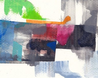 "Abandoned, original watercolor painting 7"" x 5"""