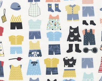 Sale Multi Clothes for the Playground cotton fabric from Dear Stella fabrics
