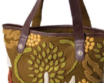 Lantern Moon Bali Handuk Shopper Knitting Bag-Brown