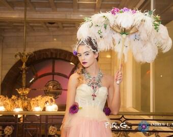 Romantic  Vintage Peplum Tulle Corset Bustier