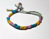 Pansexual Pride Friendship Bracelet French Twist Chinese Staircase