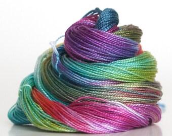 Size 20, hand dyed tatting thread / crochet cotton